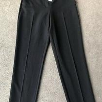 Topshop Black High Waist Straight Leg Ankle Length Cigarette Trousers Uk 8 Bnwt Photo