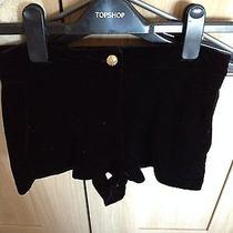 Topshop Black Velvet Shorts Photo