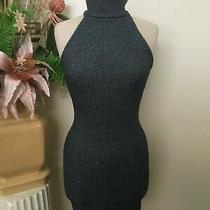 Topshop Blue Sleeveless Turleneck Stretch Sweater Dress Size 4 Photo