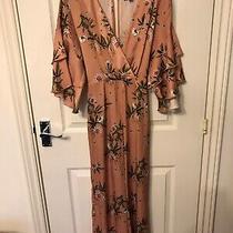 Topshop Blush Floral Jumpsuit Size 8 Photo