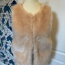 Topshop Blush Pink Faux Fur Gilet or Waistcoat - Size 8 - Excellent Condition Photo