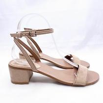 Topshop Blush Pink Suede Open Toe Block Heel Sandals Women's Size 7 Photo