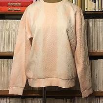 Topshop Boutique Oversize Sweatshirt Blush Pink White 3d Snakeskin Pattern Uk8 Photo