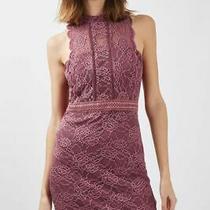 Topshop Boutique Scallop Mix Lace Mini Dress Size 10 Rrp 60 Sold Out Photo