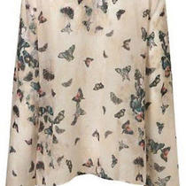 Topshop Butterfly Flute Sleeves Blouse Us2 Photo