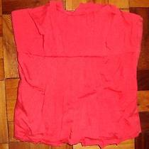 Topshop Corset Tube Top Size 36 Red With Piping Photo