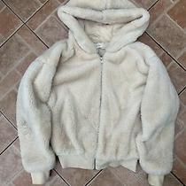Topshop Cream Fur Jacket Size Xs Photo