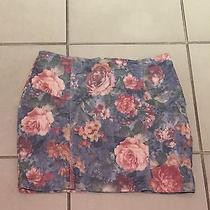 Topshop Denim Floral Skirt Photo