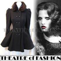 Topshop Dress Coat 10 38 Us 8 6 Vintage Blue 40s War Bride 50s Skater Victorian Photo