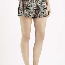 Topshop Embroidered High Waisted Shorts Sz 10 Bnwt 38 Photo