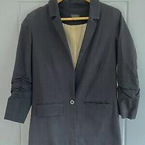 Topshop Fitted Black Blazer Size 8 Photo