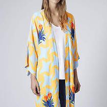 Topshop Geo Bird Print Longline Kimono Photo