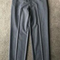 Topshop Grey High Waist Straight Leg Ankle Grazer Cigarette Suit Trousers Uk 8 Photo