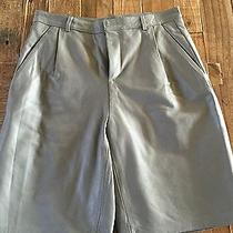Topshop Grey Leather Shorts Exclusive Luxury Collection  Photo