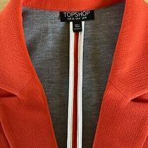 Topshop Jacket/blazer Burnt Orange Size 8 Bnwot Modern Twist on a Classic Photo