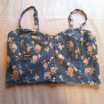 Topshop Jean Floral Bustier Photo