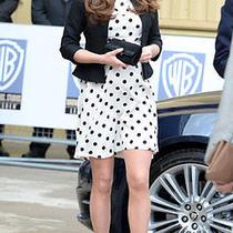 Topshop Kate Middleton Polka Dot White Dress Nwt Size Eur 34 Us 2 Uk 6 Photo