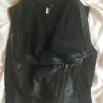 Topshop Leather & Cloth Vest Photo