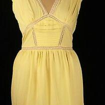 Topshop Lemon Yellow Frill Dress Sz 10 Photo
