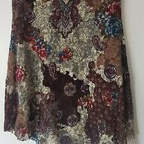 Topshop Lined Lacey Skirt Size 12 Boho Retro Gypsy Country Line Dancing Photo