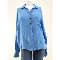 Topshop Long Sleeve Blue Womens Top Us Size 10 750 Photo