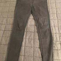 Topshop Maternity Leigh Under Bump Slim/skinny Trousers Grey Jeans Uk 12 Photo