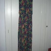 Topshop - Maxi Long Dress/beach Cover Up Purple/green/yellow/multi - M 10/12 New Photo