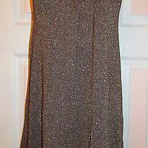 Topshop Metallic Gold Lurex Sleeveless Boho Tunic Top Ultra Mini Dress 10 Nwot Photo