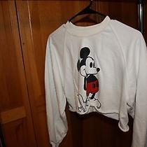 Topshop Mickey Mouse Crop Top Sweatshirt Photo