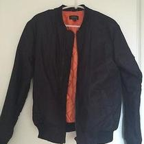 Topshop Military Black Orange Bomber Jacket Photo