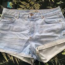 Topshop Moto Denim Light Blue Size W34 Shorts Summer Festival Photo
