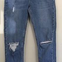Topshop Moto Distressed Maternity Skinny Stretch Jeans Blue Sz Uk 10 Us 6 Ankle Photo
