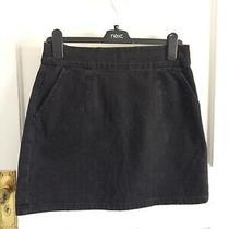 Topshop Moto Ladies Black Denim Skirt With Pockets & Exposed Zip Size 30 Waist Photo