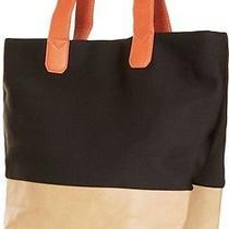 Topshop Neoprene  Black/orange/tan Tote Bag Carry on Computer Bag Photo