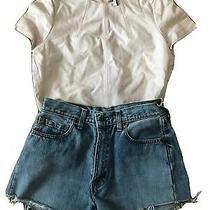Topshop Nwot Leather Blush Tee Shirt Top 6 8 65  Photo