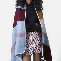 Topshop Oversized Striped Tape Edge Blanket Scarf Multi Color New Photo