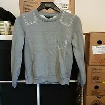 Topshop Petite Size 4 Grey Crop Sweat Top  (G17) Photo