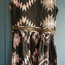 Topshop Petite Uk 10 Black & Blush Pink Short Dress With Zip Detail  Photo