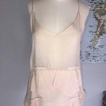 Topshop Piko 1988 Rare Unique Pink Blush Satin Ruffle Spaghetti Strap Top Size S Photo