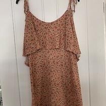 Topshop Pink Floral Dress Size 10 Photo