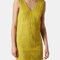 Topshop Premium Beaded Sleeveless Shift Dress Sz Uk 8 Eur 36 Mustard Yellow Bnwt Photo