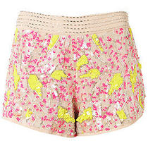 Topshop Premium Fluro Firework Sequin Embellished Shorts Size 6 Bnwt Photo