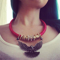 Topshop Red Cord Eagle Necklace  Sold Out  Photo