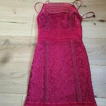 Topshop Red Dress Size 6 Lace Photo