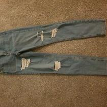 Topshop Ripped Blue Jeans 28w 30l Photo