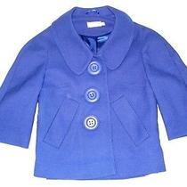 Topshop Royal Blue Wool Large Buttons Swing Crop Blazer Coat Jacket Us 8 /eur 36 Photo