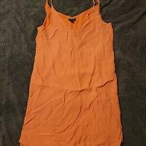 Topshop Size 10 Slip Dress Orange Floaty Photo