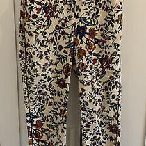 Topshop Size 6 Skinny Trousers Mint Cond Womens Floral Cottagecore Pockets Crop Photo