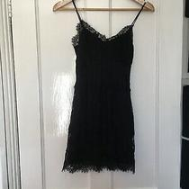 Topshop Size 8 Black Sleeveless Lace Dress. (R14) Photo