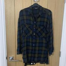 Topshop Size 8 Checked Shirt Photo